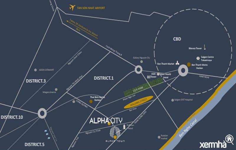 Vị trí dự án alpha city