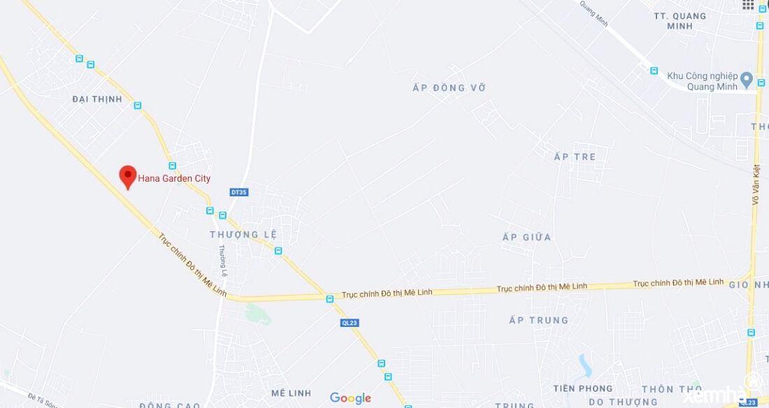 Vị trí dự án Mê Linh Spring Ville