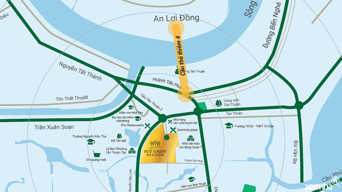 Vị trí dự án Eco Green Sai Gon