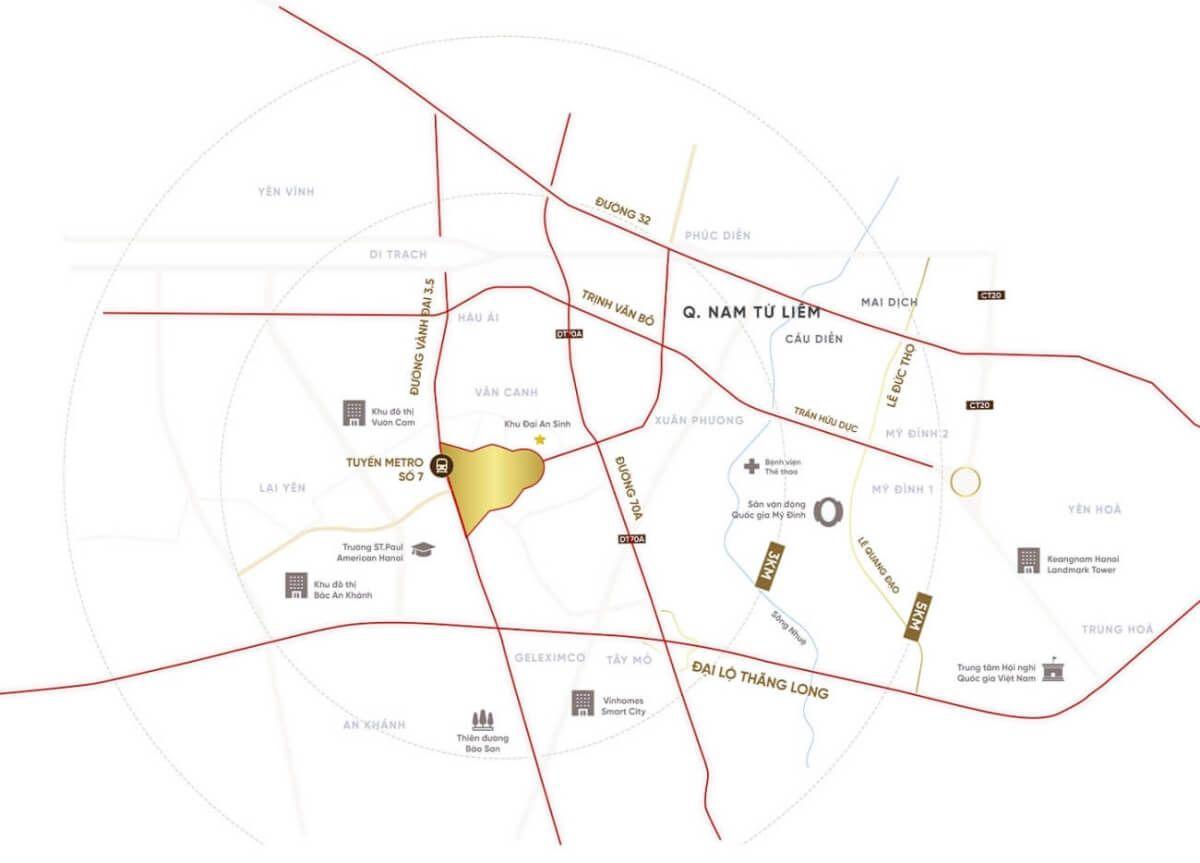 Vị trí khu đô thị Vườn Cam