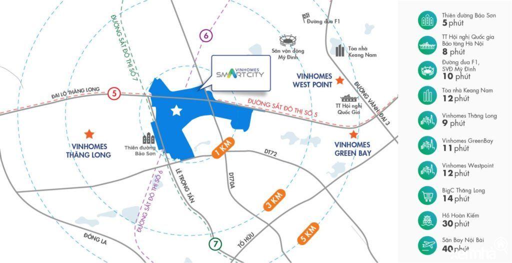 Vinhomes Smart City sở hữu vị trí cạnh tranh, đón đầu xu hướng
