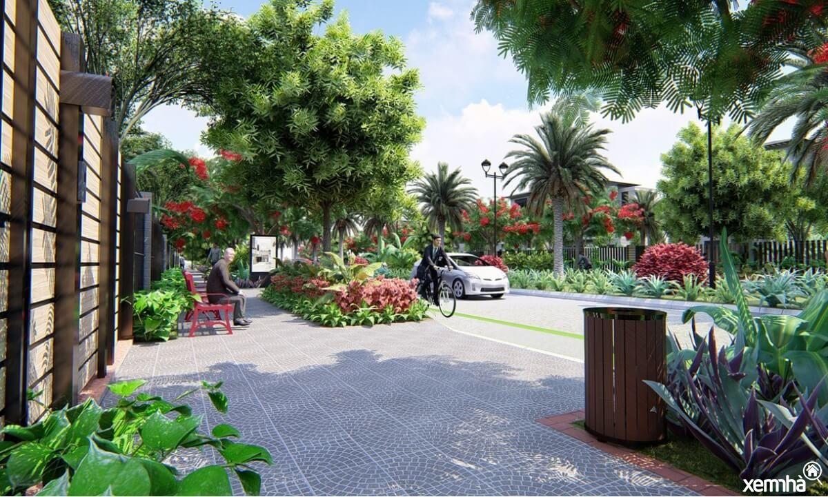 Vườn tiểu cảnh khu đô thị HUD Melinh Central