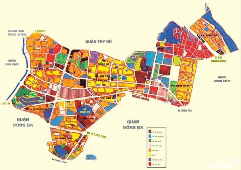 Bản đồ quy hoạch quận Ba Đình